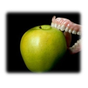 Denture-apple