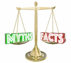 digital image of myths vs facts