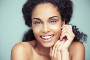 young African-American woman with beautiful smile