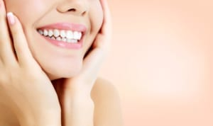 up close photo of woman's beautiful smile