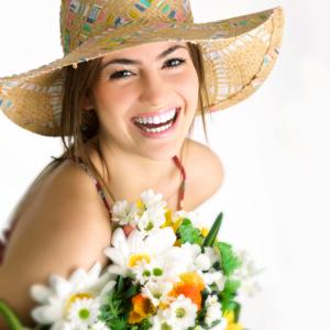 Beautiful, white, straight smile