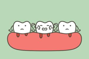 periodontitis illustration on green background