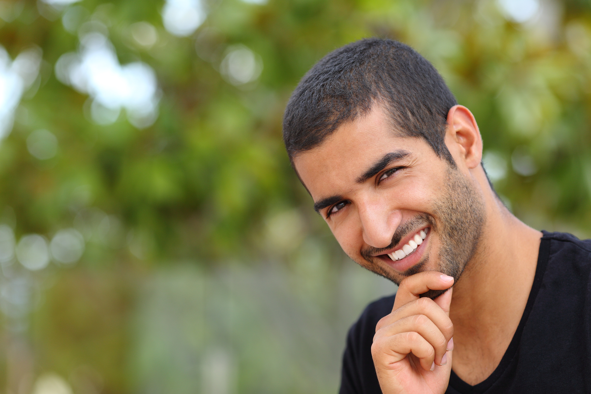 man with beautiful smile